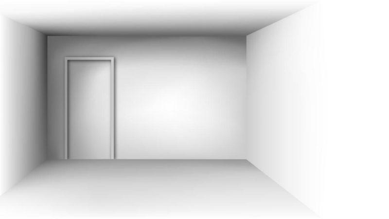 cameră cu pereți albi